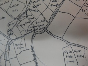 MAP OF ELMERS END IN 1775